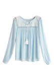 Goodnight Macaroon 'Elsa' Chiffon Tassel Blouse