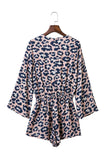 Goodnight Macaroon 'Jada' Cheetah Print Wrap Romper