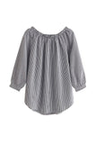 Goodnight Macaroon 'Oona' Off The Shoulder Stripe Blouse