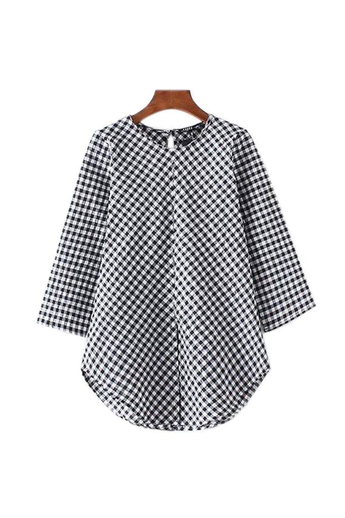 Goodnight Macaroon 'Phoebe' Gingham Blouse