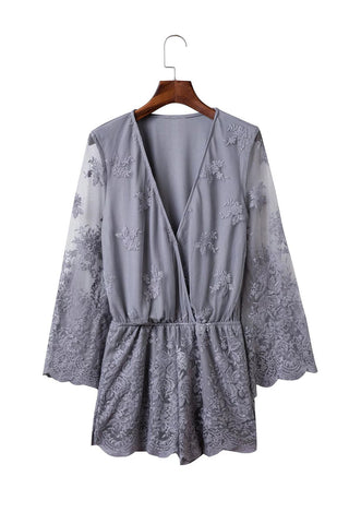 Goodnight Macaroon 'Katie' Lace Wrap Romper
