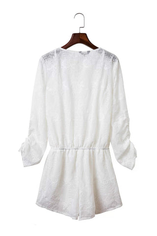 Goodnight Macaroon 'Lily' White Lace Romper