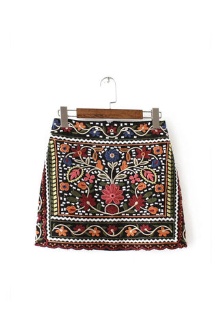 'Bailey' Embroidered Skirt - Goodnight Macaroon