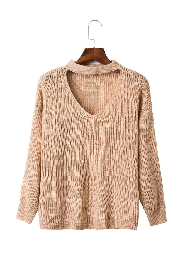 Goodnight Macaroon 'Francis' Choker Cut Out Sweater