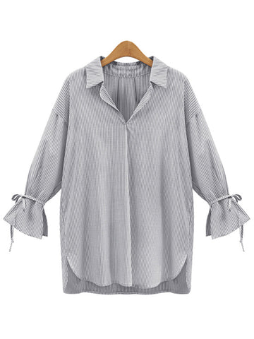 'Leya' Mock Shirt with Tied Sleeve