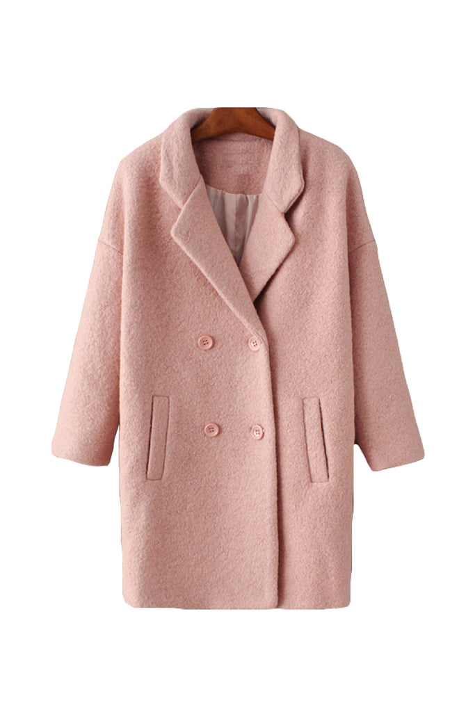 'Leslie' Blush Pink Boyfriend Coat