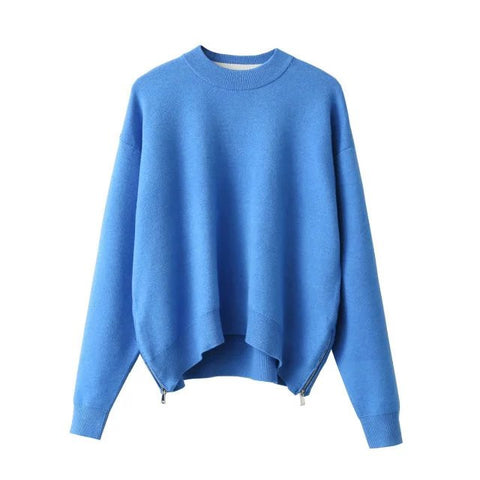 'Emerald' Azure Blue Soft Knit Sweater