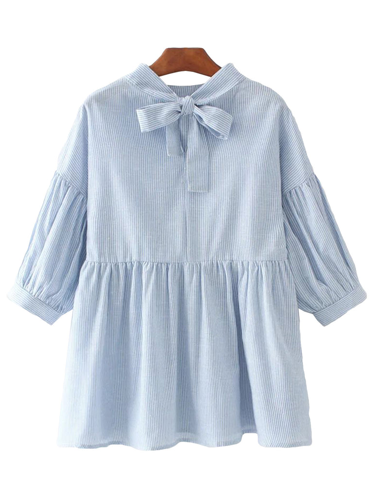 'Tamie' Baby Blue Ruffle top