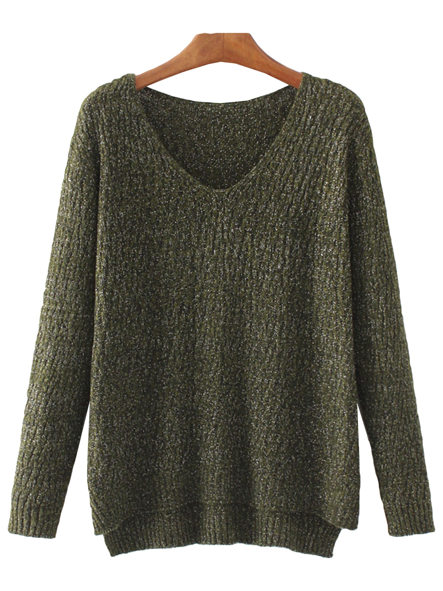 'Joan' Olive Mock Sweater