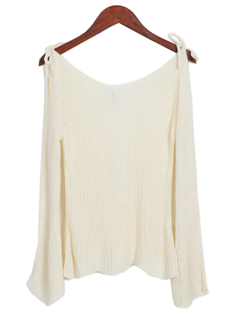 'Noha' Bow Off The Shoulder Sweater