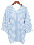 'Paige' Stripe Oversized Shirt