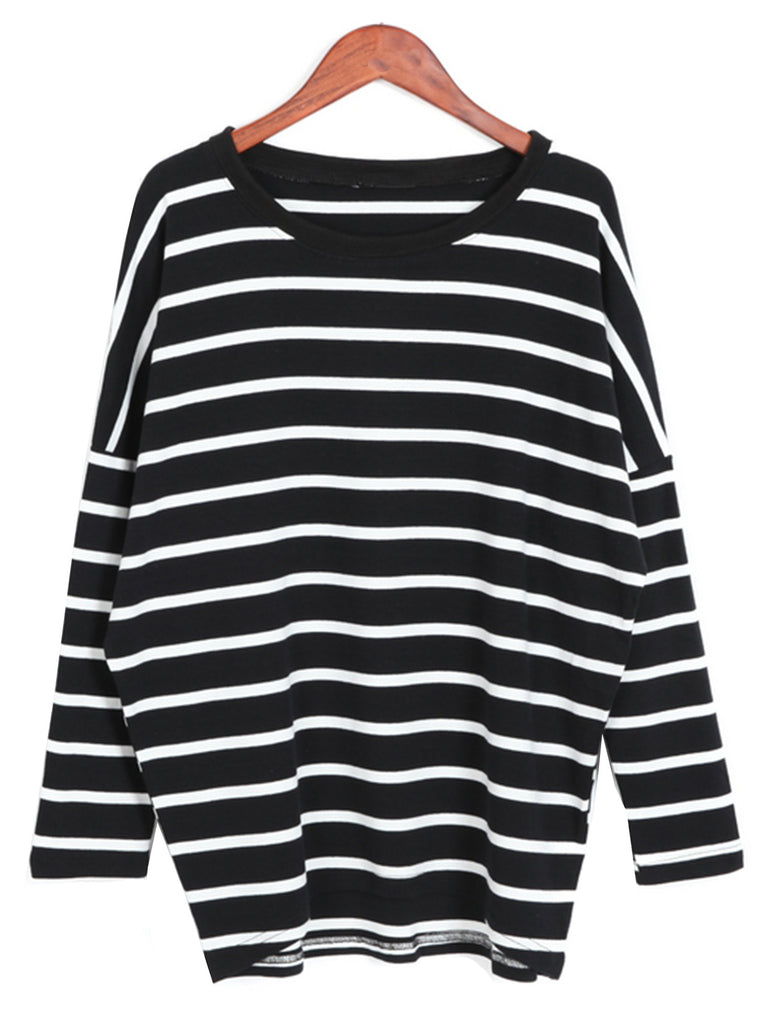 'Laurie' Striped Oversized Sweater