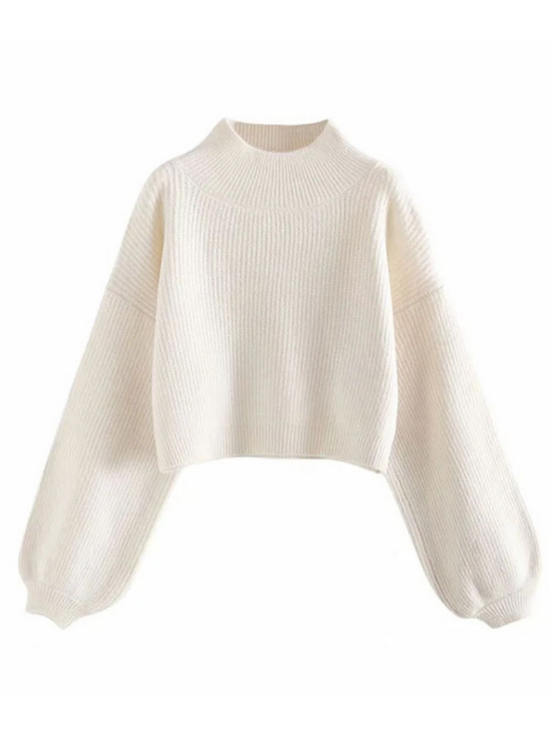 'Harmony' High-neck Bulky Sweater (5 Colors)