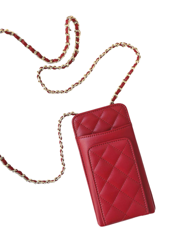 'Kit' Quilted Crossbody Chain Mini Bag (5 Colors)