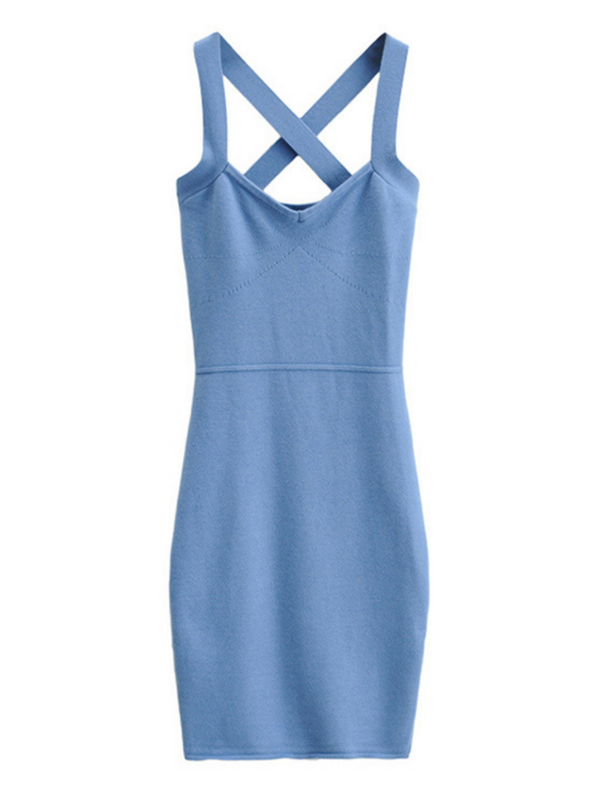 'Debby' Cross Back Knitted Dress (4 Colors)