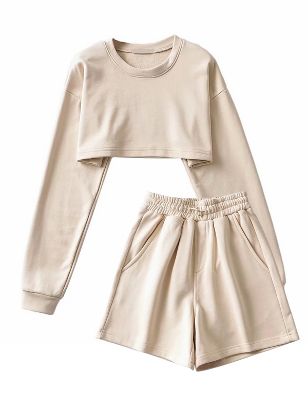 'Abbey' Cropped Top & Shorts Set (5 Colors)