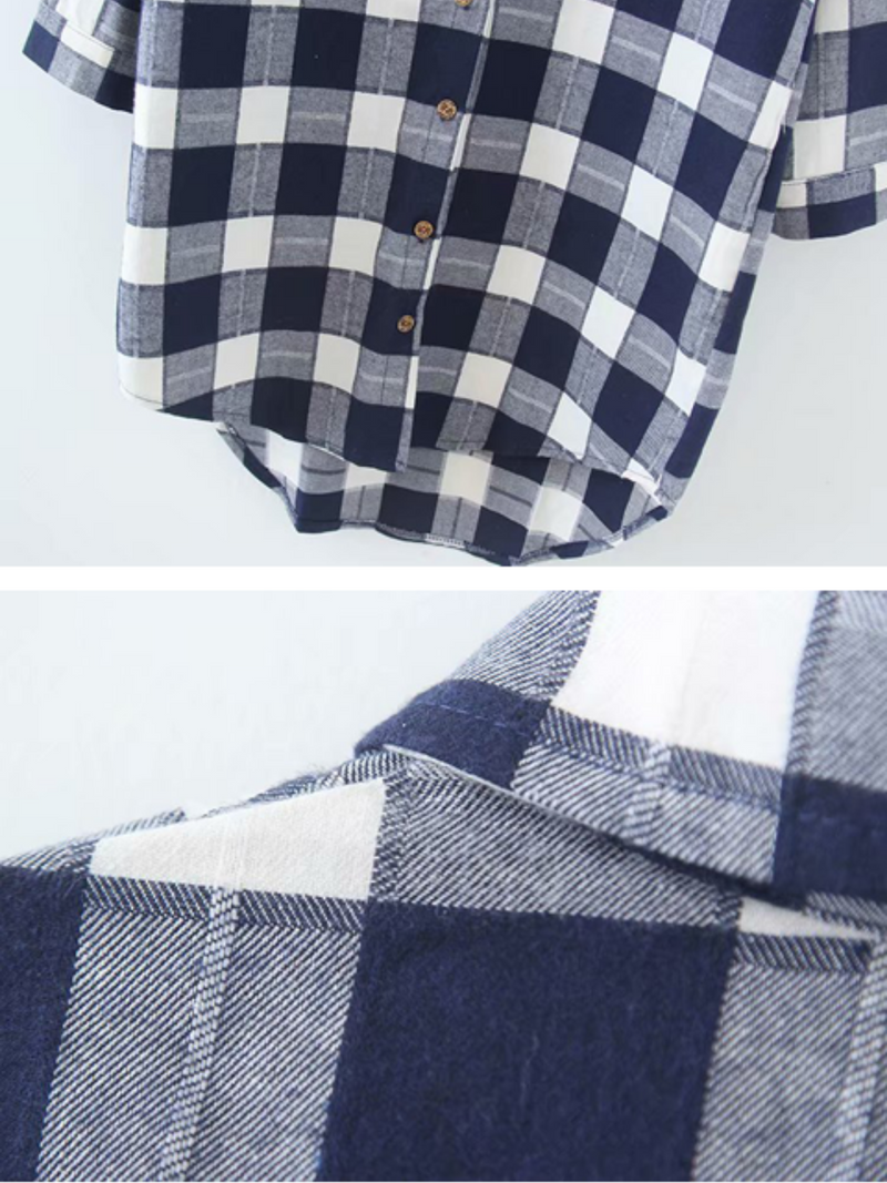 'Enola' Oversized Plaid Shirt Dress (3 Colors)