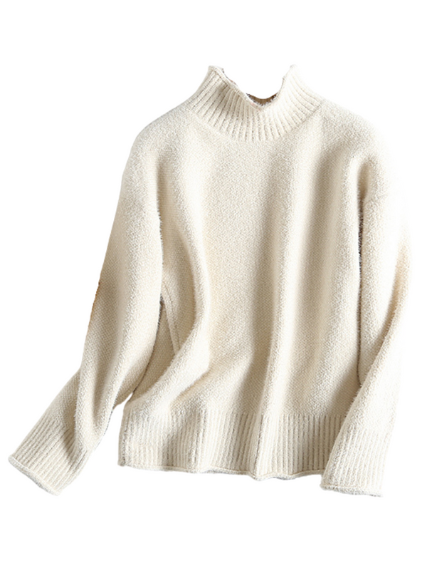 'Kindra' Chenille High-neck Sweater (3 Colors)