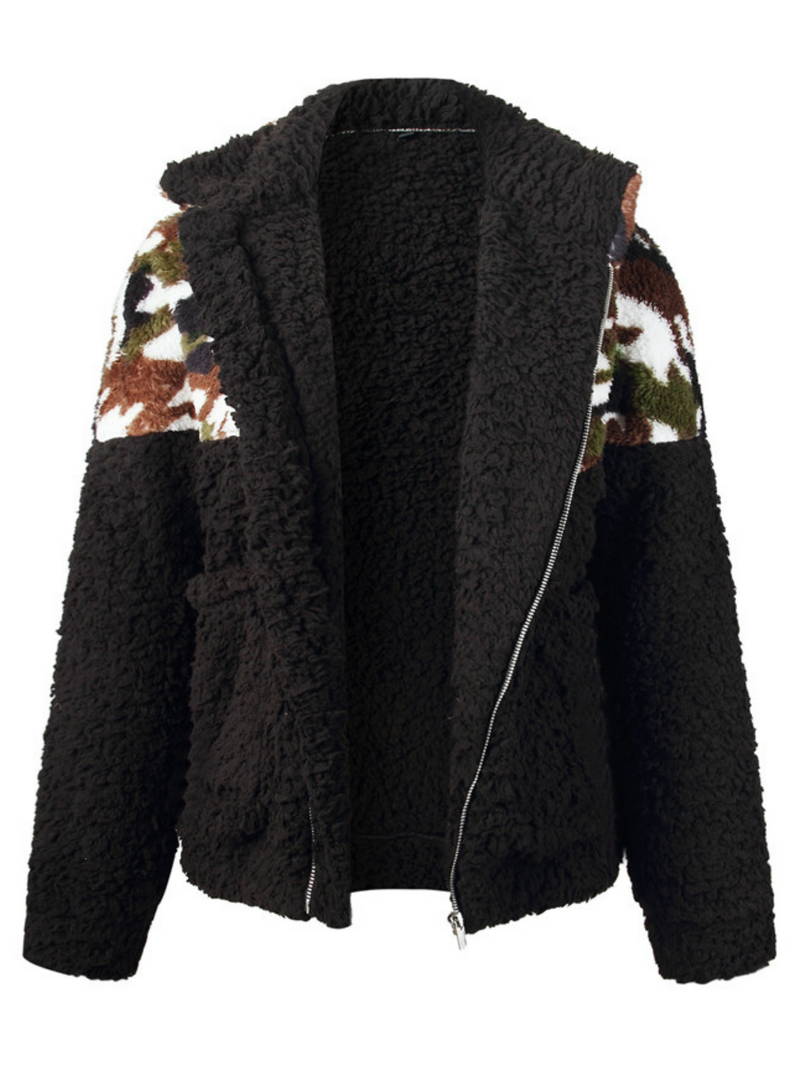 'Stephy' Animal Print Fleece Jacket (4 Styles)