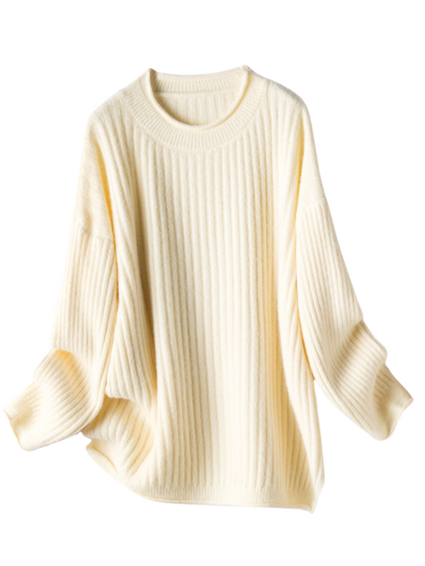 'Cherry' Verticle Ribbed Rolled Sweater (3 Colors)