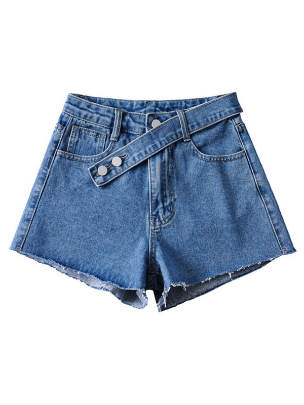 'Patsy' Belted Detail Denim Shorts (3 Colors)