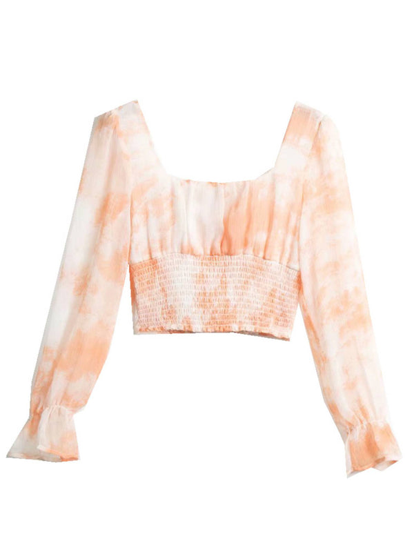 'Katie' Square Neck Tie Dye Crop Top (2 Colors)