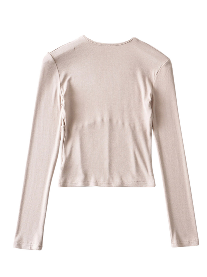 'Bifina' Bust-line Detailed Sweater (4 Colors)