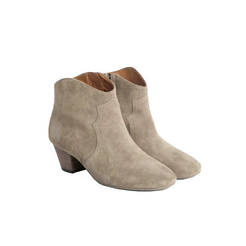 'Mariam' Knee High Suede Fleece Leather Boots