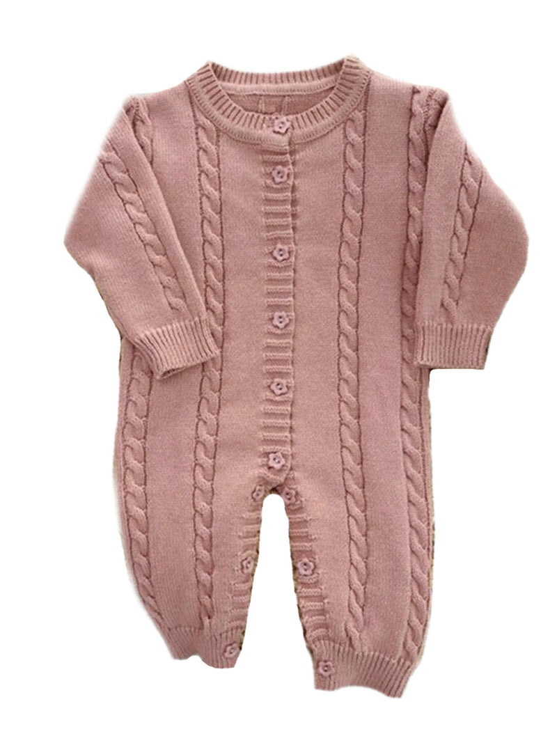 'Thuy' Cable Knit Baby Bodysuits (2 Colors)