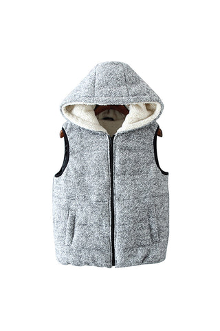 'Betty' Woollen Hooded Puffer Vest from Goodnight Macaroon