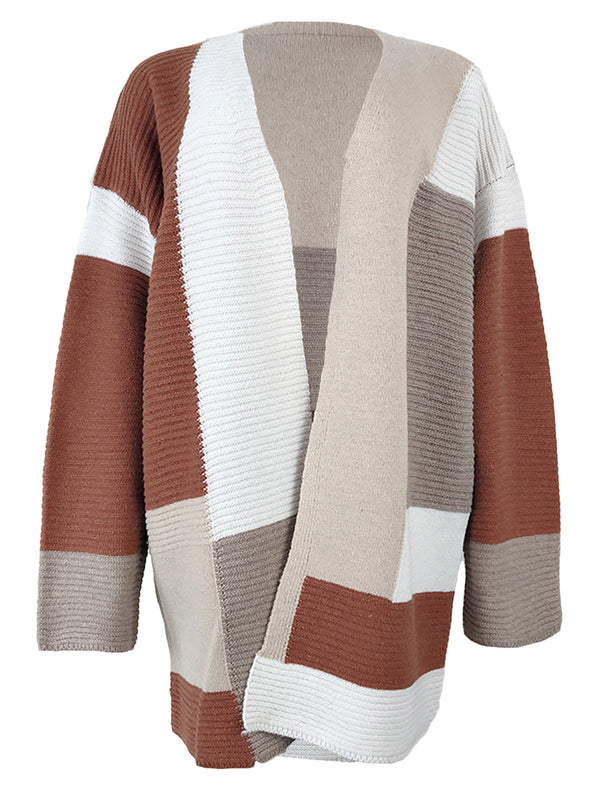 'Fiona' Colorblock Open Cardigan (6 Colors)