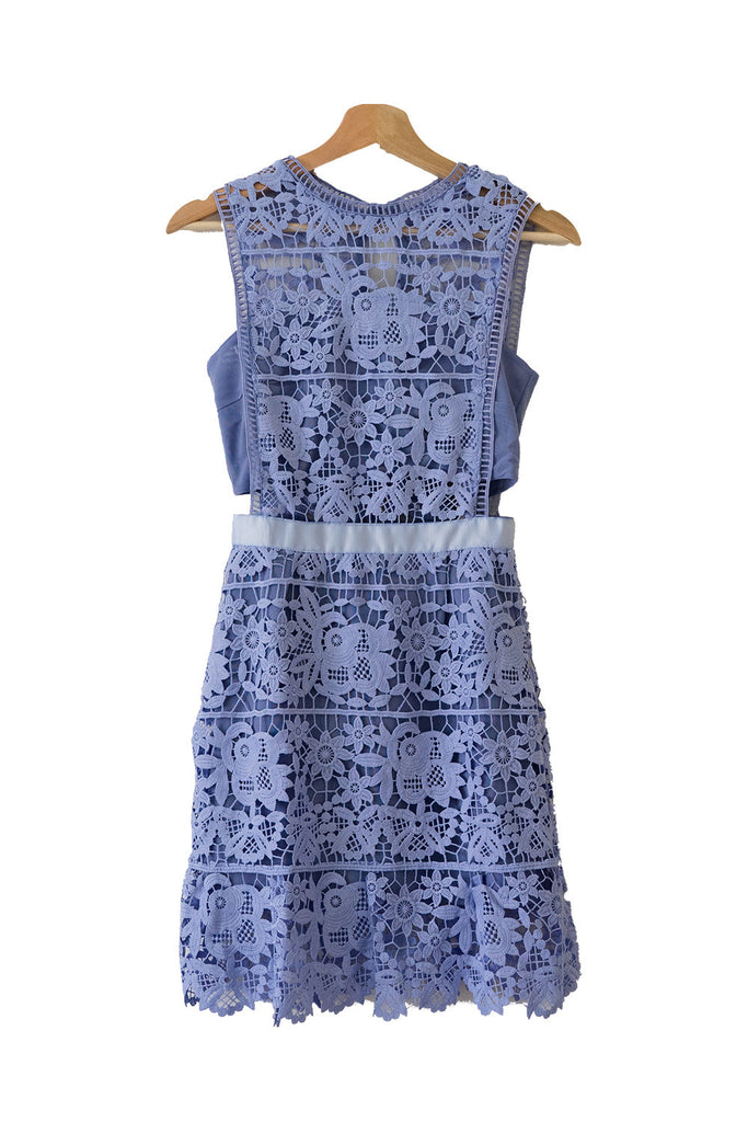 'Tyra' Lilac Lace Sleeveless Shift Dress from Goodnight Macaroon