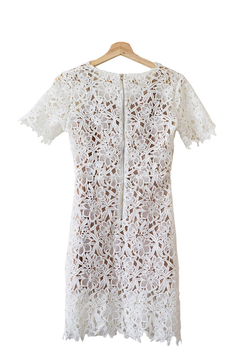 Goodnight Macaroon 'Latrice' Floral Lace Shift Dress