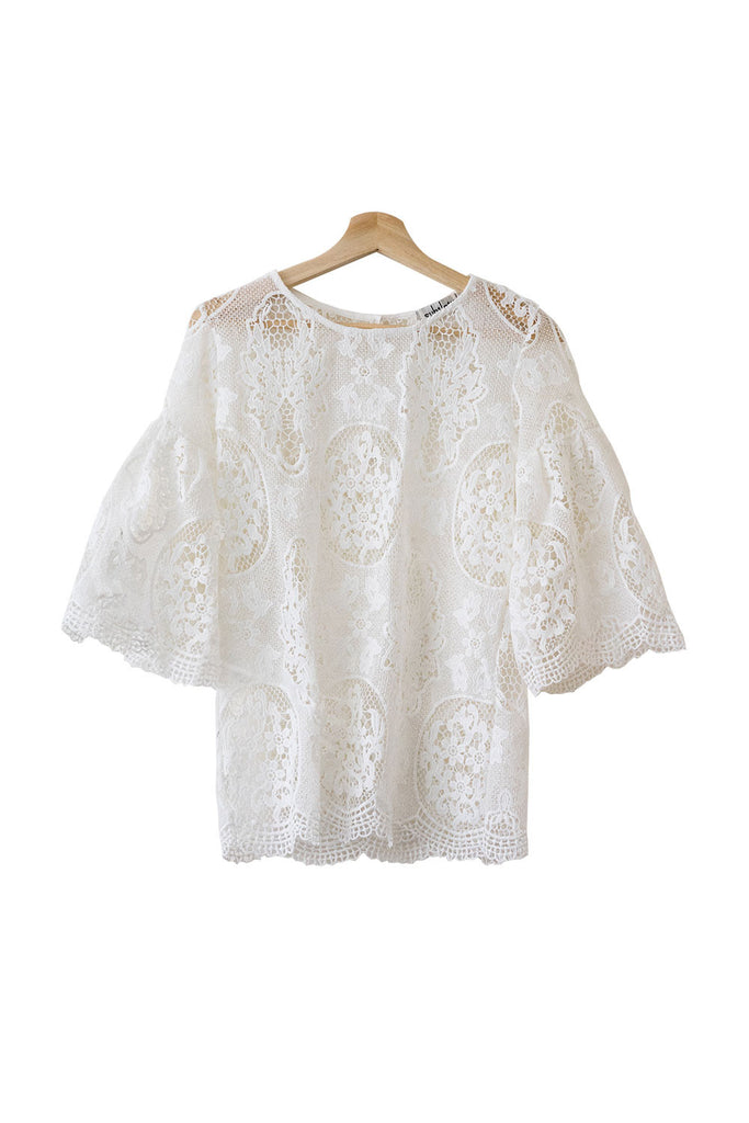 Goodnight Macaroon 'Naomi' Crochet Lace Top