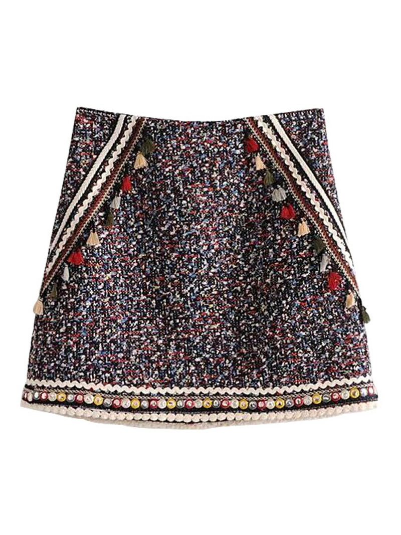 'Becca' Bohemia Tassel Braided Skirt