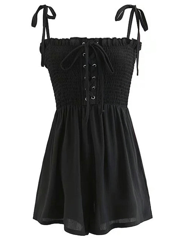 'Ilia' Front Tied Ruffled Romper (3 Colors)