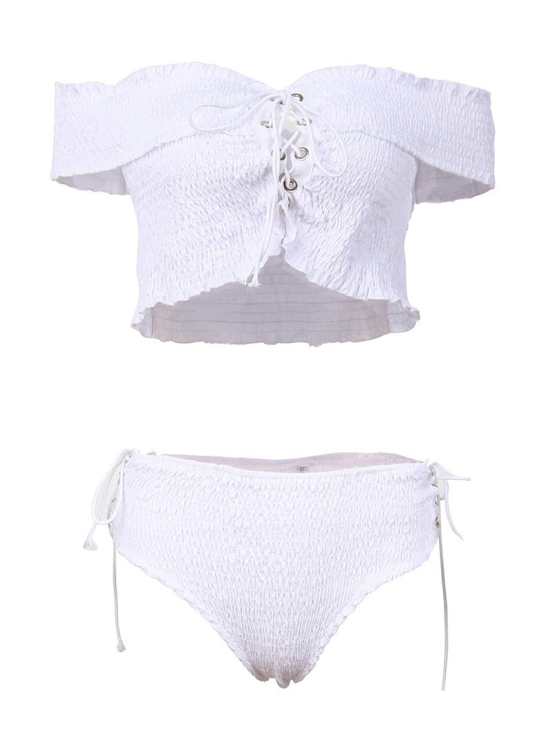 'Valda' Cross Strap Bikini Set (3 Colors)