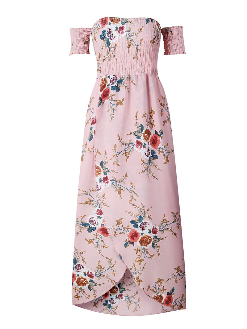 'Dalenna' Floral Off The Shoulder Midi Dress (5 Colors)