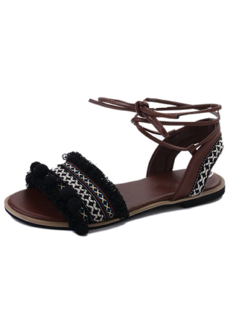 'Carter' Bohemia Strappy Embellished Sandals (2 Colors)