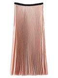 'Shona' Peach Long Pleat Skirt
