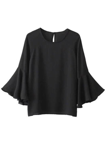 'Shirin' Silky Flare Sleeve Top