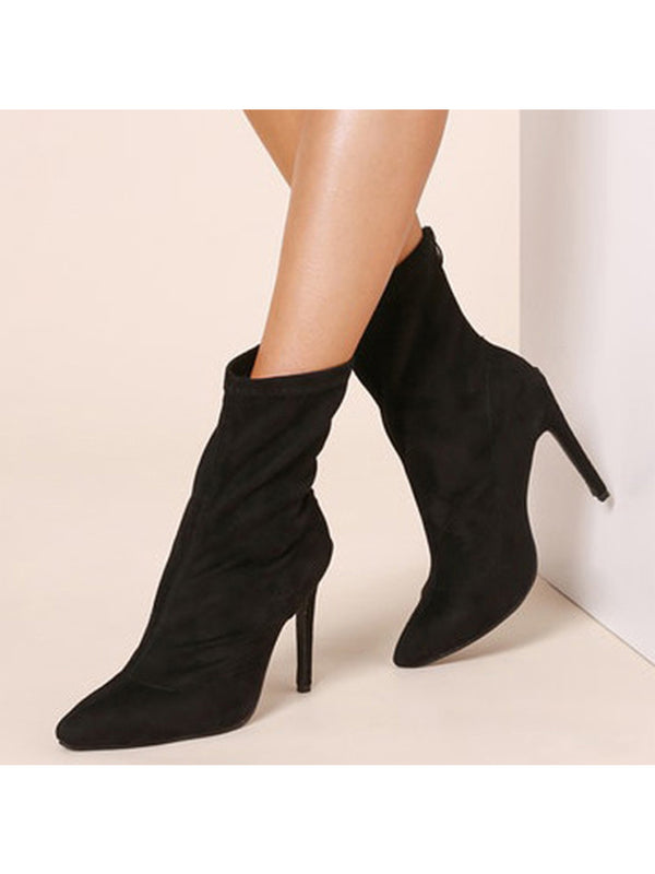 Goodnight Macaroon 'Sierra' Pointed Toe High Heeled Ankle Booties Pair