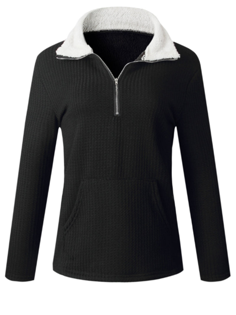 'Maddie' Zip Collar Fleece with Pocket (3 Colors)