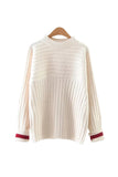 'Frederica' Chunky Ribbed Crewneck Sweater from Goodnight Macaroon