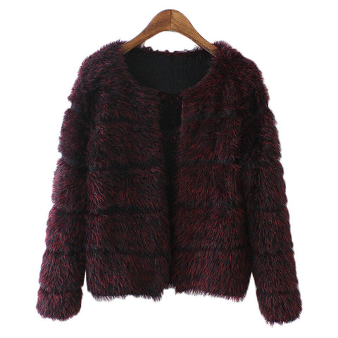 'Isabella' Fuzzy Soft Short Faux Fur Jacket