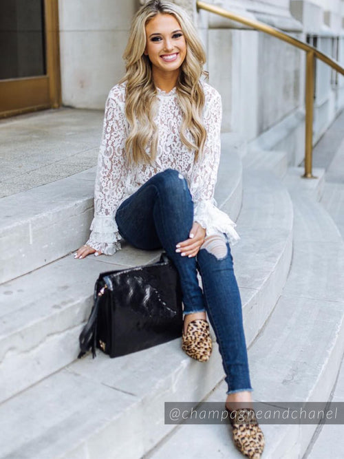 'Merrill' Lace Crochet Blouse