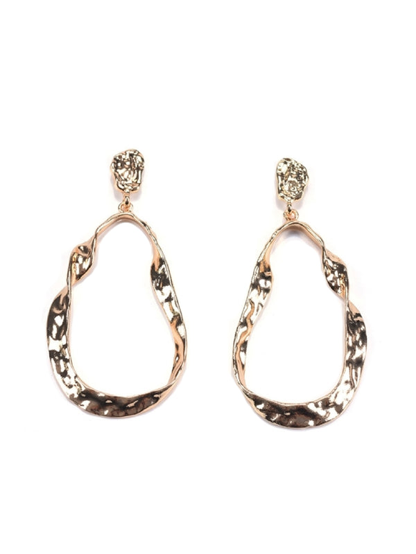 'Vada' Irregular Shaped Alloy Earrings