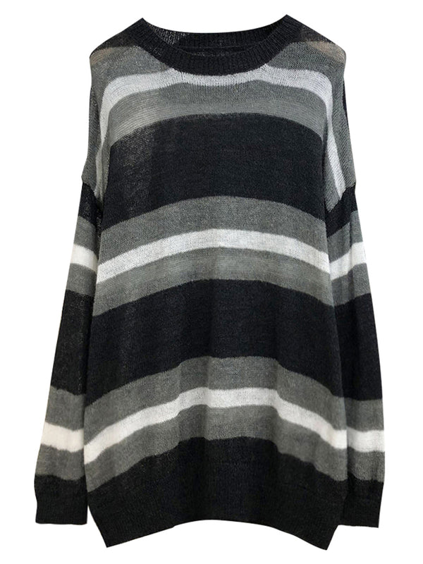 'Padre' Striped Lightweight Sweater (3 Colors)