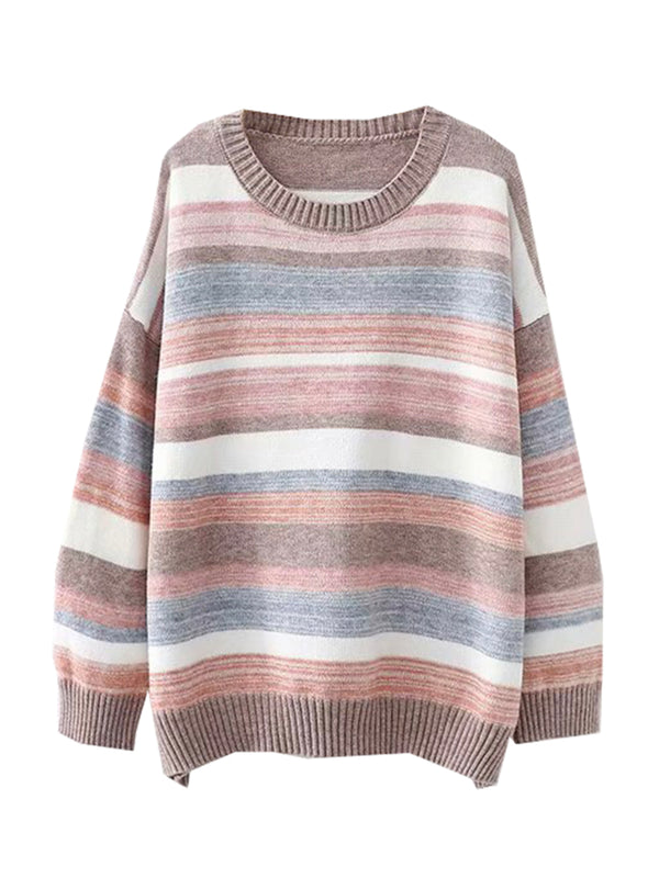 'Nicole' Crewneck Color Block Sweater (2 Colors)