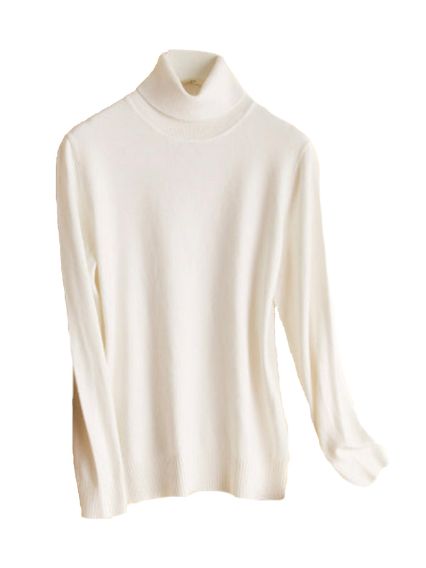 'Amelia' Cashmere Turtleneck Sweater (5 Colors)